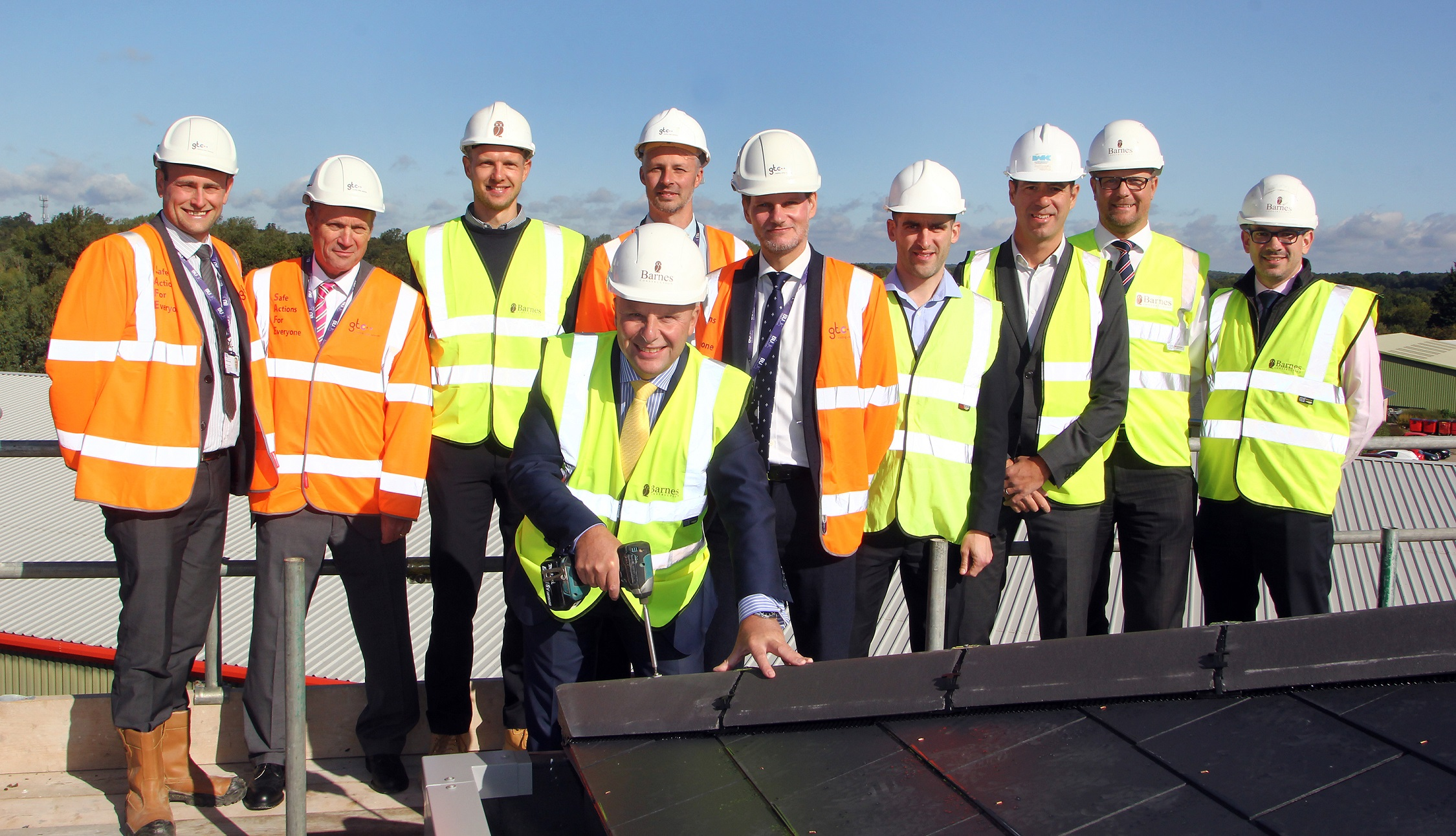 Topping out takes place on new office extension for BUUK in Woolpit