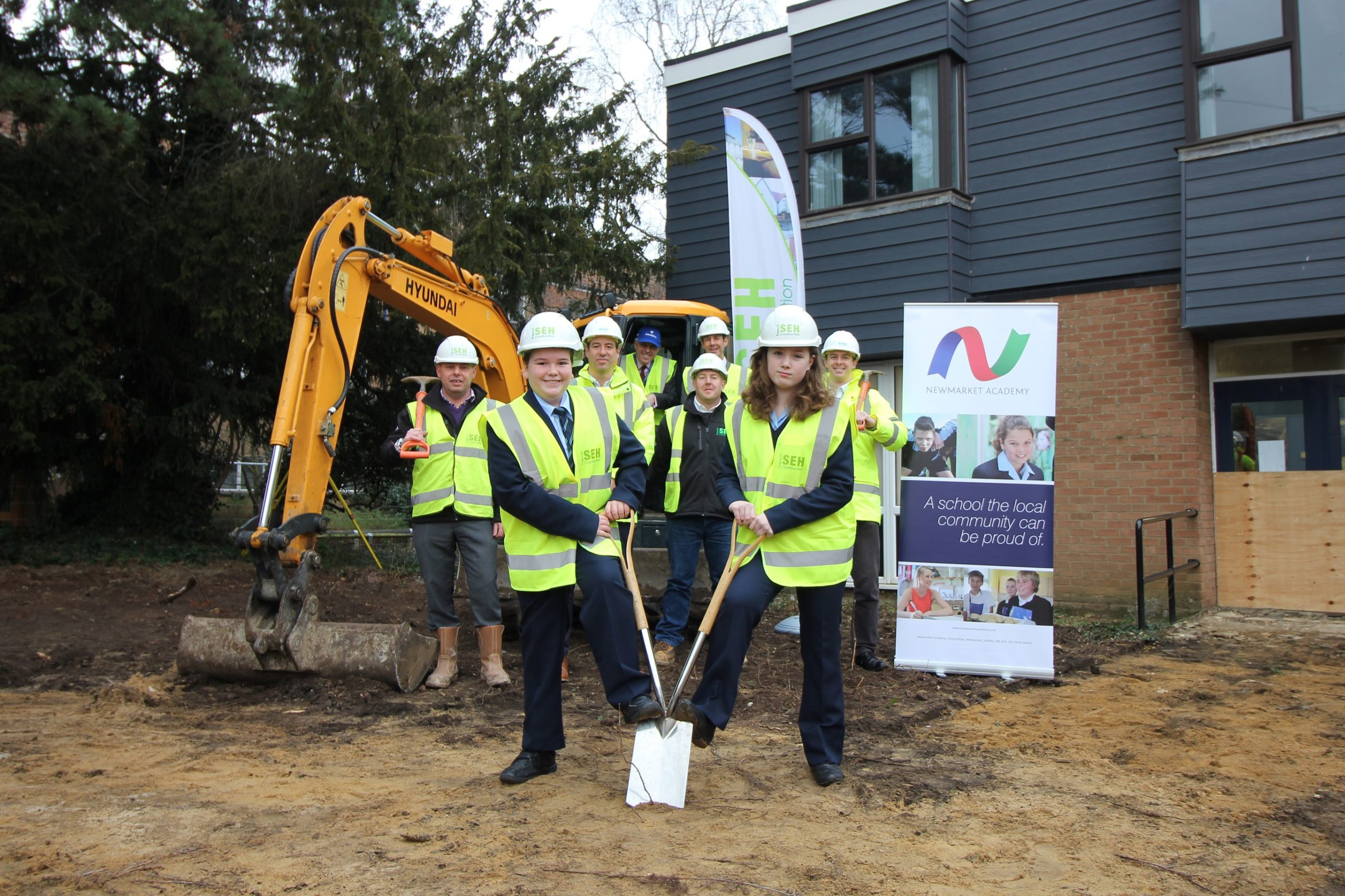 Work on new Library begins at Newmarket Academy